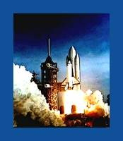 Columbia Shuttle Launch enhanced medium blue borde
