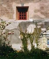 Wall in Courtyard of Carmel Mission Inn by WorldWide Archive