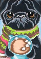 Black Pug Hot Cocoa