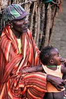 Samburu Elder and son