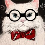 """Chemistry Cat Contemplates The Science Of Catnip"" by SagittariusGallery"