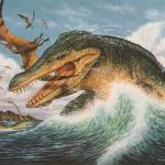 """Tylosaurus & Cearadactylus"" by PhilWilson"
