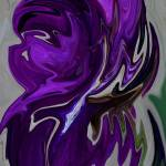 """Purple Iris Swirl"" by KHarrison"