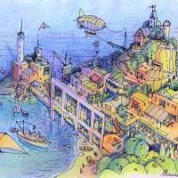 Paesaggio di Fantasia Art Prints & Posters by Luca Massone