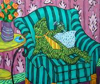 loungy lizardprint