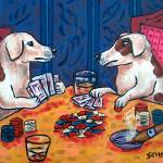 """Jack Russell terriers Playing Poker"" by lulunjay"