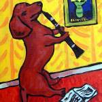 """Dachshund Playing the Clarinet"" by lulunjay"