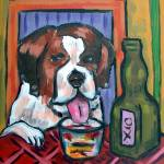 """St. Bernard at the Bar"" by lulunjay"