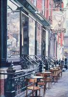 Cafe Della Pace, East 7th Street, New York City, 1