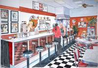 Interior, Soda Fountain, NYC