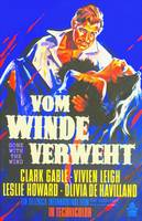 German poster of Gone with the Wind
