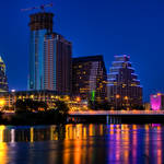 """Austin Skyline at Dusk"" by dawilson"