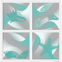 Turquoise Cape Cod Abstract