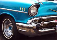 Chevrolet Bel Air American Muscle Car in Blue and