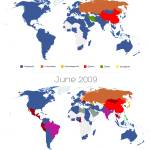 """World Map of Social Networks 2009-2013"" by vincos"