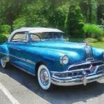 """Blue 1951 Pontiac"" by susansartgallery"
