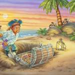 """Pirates gold, ship, Indians, jungle, boy, illustra"" by PhilWilson"