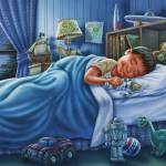 """Sleeping boy, sleeping child, kids room, dream, ki"" by PhilWilson"