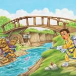 """Troll, river, bridge, boy, illustration"" by PhilWilson"