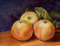 Three Apples Art Painting