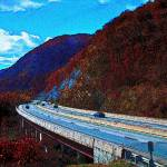 """Fall time in Big Stone Gap"" by TEA"