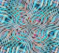 Blue And Pink Line Movement