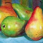 """Four Pears Still Life"" by BlendaStudio"