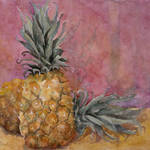 """Two Pineapples Still Life"" by BlendaStudio"