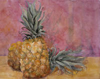 Two Pineapples Still Life