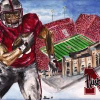 Huskers Art Prints & Posters by Sheena Bolken
