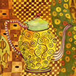 """Klimt Style Teapot Art"" by BlendaStudio"