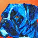 """Blue Boxer Dog"" by Rmbartstudio"
