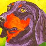 """Purple Dachshund"" by Rmbartstudio"