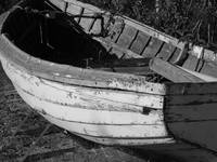 Rowboat in a Yard_BW_1