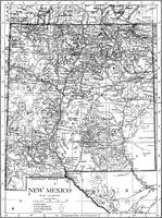 Vintage Map of New Mexico (1911)