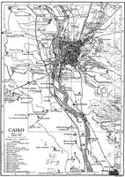Vintage Map of Cairo Egypt (1911)