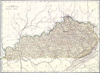 Vintage Map of Kentucky (1882)