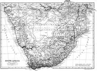 Vintage Map of South Africa (1911)