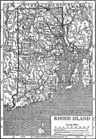 Vintage Map of Rhode Island (1911)