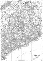 Vintage Map of Maine (1911)
