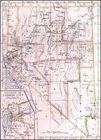 Vintage Map of Nevada (1882)