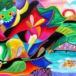 """""""Vejigantes Taino - Puerto Rico collage"""" by galina"""