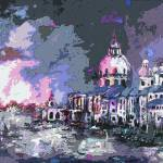 """""""Abstract Modern Venice Paintings Grand Canal"""" by GinetteCallaway"""