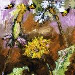 """Dandelions and Bees by Ginette"" by GinetteCallaway"