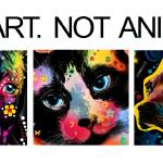 """Buy Art Not Animals"" by markashkenazi"
