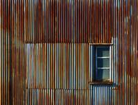 Window in Corrugated Wall