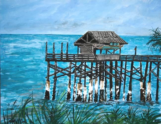 Cocoa beach pier by derek mccrea for Cocoa beach pier fishing