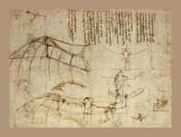 Design For A Flying Machine 1488 AD Small Border