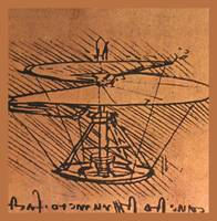 Design For A Helicopter 1500 AD Small Border
