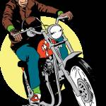 """redbubble-biker-chimp"" by RichDelux"